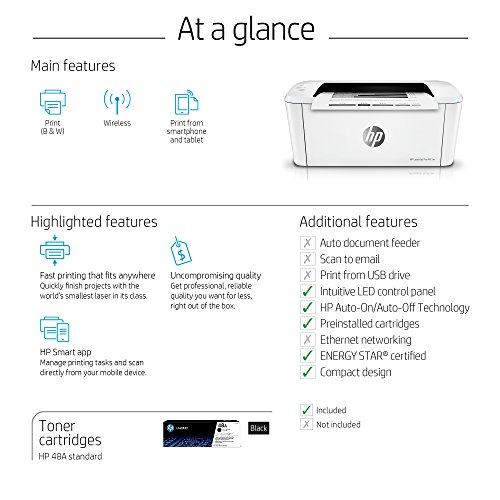 HP LaserJet Pro M15w Wireless Laser Printer (W2G51A) by HP (Image #5)