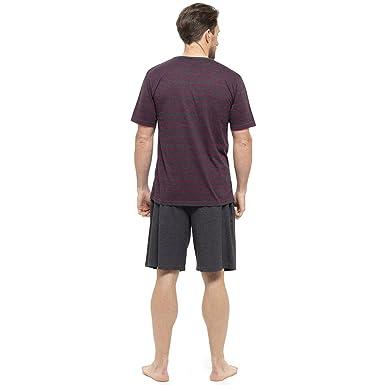 Tom Franks Hombre Algodón De Rayas Jersey Camiseta & Pijama corto: Amazon.es: Ropa y accesorios