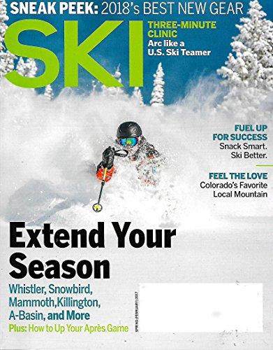 SKI Magazine SPRING 2017 VOLUME 81# 6 Best New Gear for 2018, Arc Like A US Ski Teamer (Ski Magazine Best Skis)