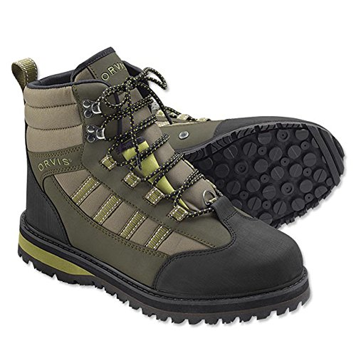 (Orvis Encounter Wading Boot - Rubber/Only River Guard Encounter Boot, 11 Tan/Olive)