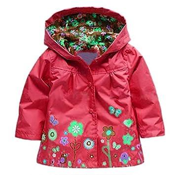 172255fc6fdf Amazon.com   Arshiner Girl Baby Kid Waterproof Hooded Coat Jacket ...