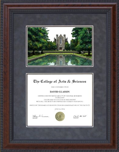 Amazon.com : Diploma Frame with Licensed Berry College Campus ...