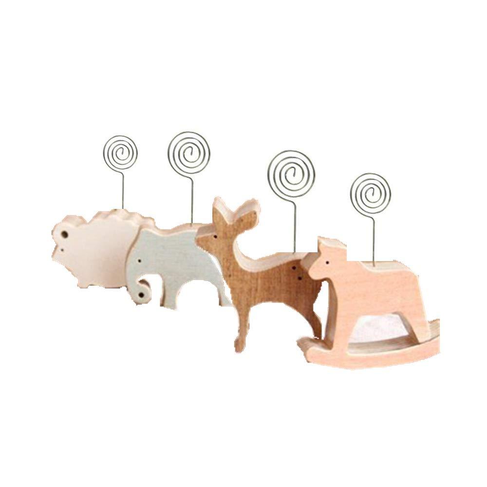 Cuzile 4pz supporto memo clip per foto clip notes Holder con cute anima da elefante cervo Horsel per festa di nozze casa decorazione di Natale