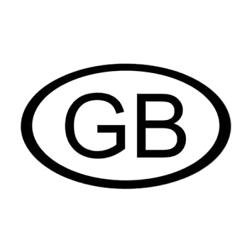 Cafepress british car sticker decal gb oval oval bumper sticker