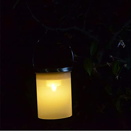 led hanging lights outdoor black led sinwo solar bucket shape led hanging lamp outdoor chandelier garden lights decorative yellow amazoncom