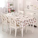 Vinylla English Rose Easy Wipe Clean PVC Tablecloth Oilcloth, Square by Vinylla