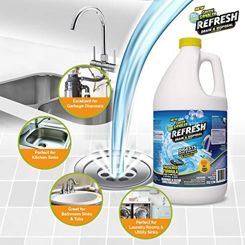 Green Gobbler ''Refresh Garbage Disposal & Drain Cleaner & Deodorizer (1 Gallon) by Green Gobbler (Image #4)