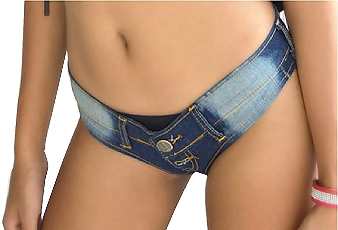 Lovelegis - Pantalones Cortos de Mujer Vaqueros - Denim Azul ...