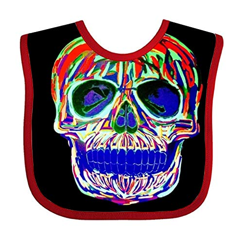 Vivid Skull Baby Girls' Burp Cloth and Bib for Feeding, Drooling and (Skull Burp Cloth)