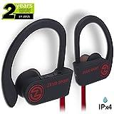 Bluetooth Headphones ZEUS SPORT Best Wireless Headphones Sweatproof Noise Isolating Earbuds with Mic Sports Headphones for Running Workout Earbuds Bluetooth Headset for Gym for Men Women