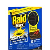 Raid Max Double Control Large Roach Baits