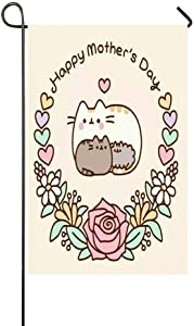 Afagahahs Happy Mother's Day Cute Love Animals Garden Flag - Double Sided Holiday Decorative Outdoor House Flag