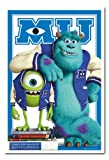 Monsters University Mike And Sulley Poster Cork Pin Memo Board White Framed - 96.5 x 66 cms (Approx 38 x 26 inches)