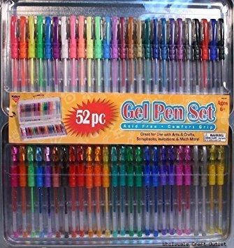 Nicole GEL270-CL-FBA Gel Pens With Comfort Grips & Tin Storage Case
