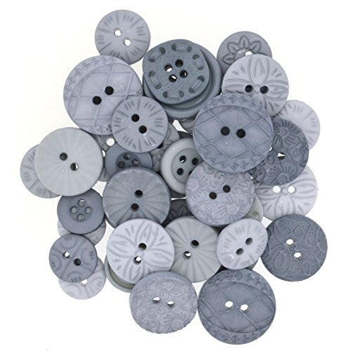 Dress It Up Buttons 8984 Color Me Grey Grey Sewing Buttons