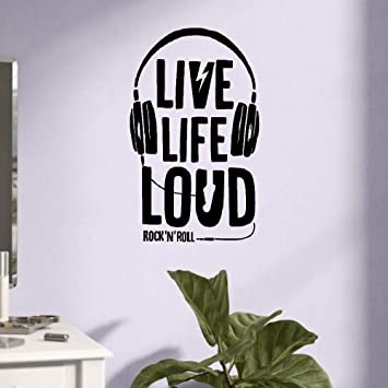 Amazoncom Wall Quotes Decal Wall Stickers Art Decor Headphones