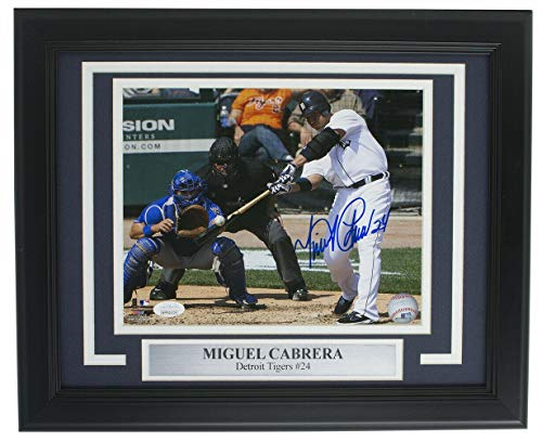 Autographed Cabrera Photograph - Framed 8x10 Batting - JSA Certified - Autographed MLB Photos