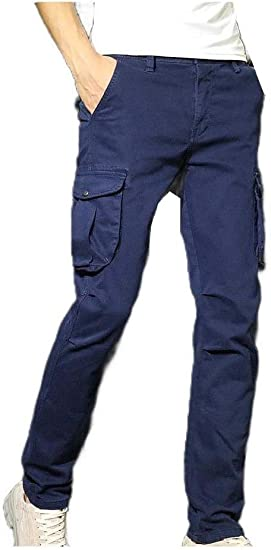 cheelot Mens Washed Fit Cargo Work Pant Trousers Casual Leisure Sweatpant