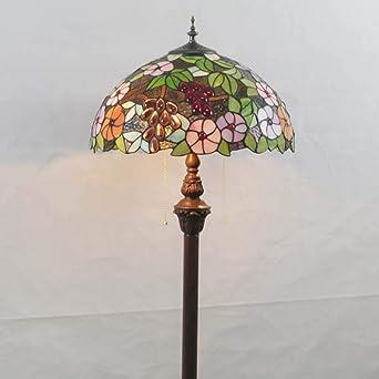 Lámpara de pie estilo Tiffany de 16 pulgadas Vidrieras de suelo ...