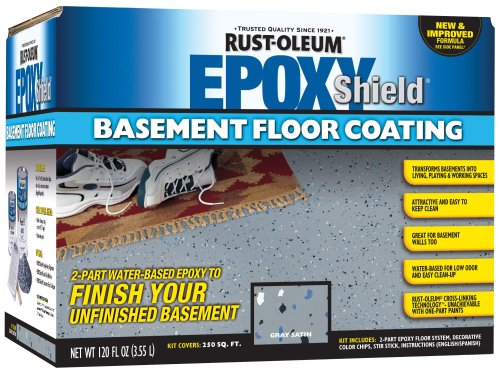 Rust-Oleum 203007 Basement Floor Kit, Gray (Concrete Stain Kit)