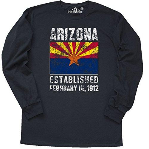 Arizona Long Sleeve T-shirt (inktastic Established February 14, 1912 Long Sleeve T-Shirt XXX-Large Black)