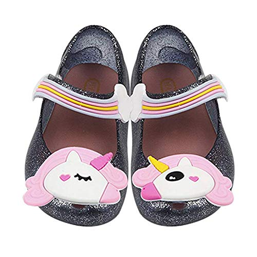 Amazon.com | iFANS Girls Cute Unicorn Shoes Mary Jane Princess Flat for Toddler Little Kid | Flats