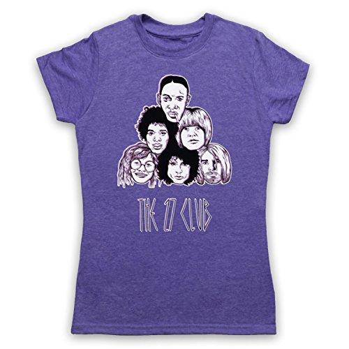 Dead Musicians 27 Club Camiseta para Mujer Morado Clásico