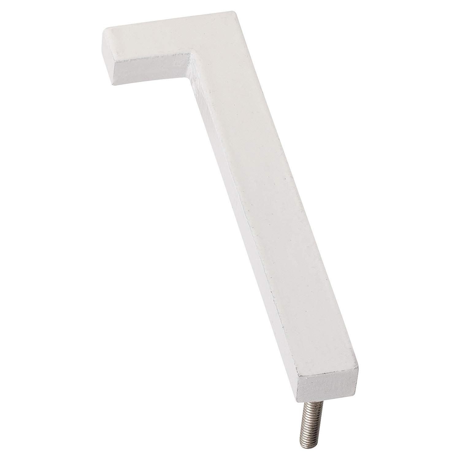 Montague Metal Products MHN-06-1-F-WE1 Floating House Number 6 x 1.75 x 0.31 White