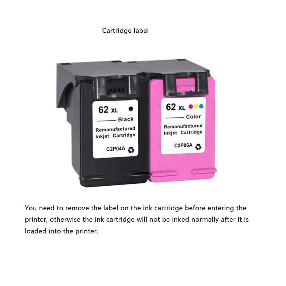 PXYUAN Cartuchos de Tinta para HP 62 compatibles con ...