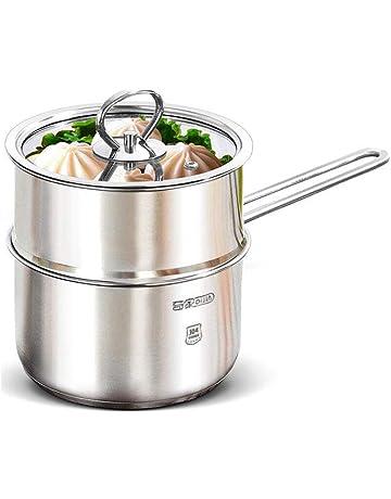 FF Leche de Acero Inoxidable 304 Cacerola Mini vaporera Sopa Olla Olla Gruesa Hogar Cocina de