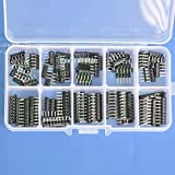 Electronics-Salon Thick Film Network Resistor Assortment Kit, Array Resistor, Bussed Type, 1/8W, SIP-5 and SIP-9 470 1K 4.7K 10K 47K ohm.