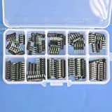 Electronics-Salon Thick Film Network Resistor Assortment Kit, Array Resistor, Bussed Type, 1/8W, SIP-5 and SIP-9 470 1K…