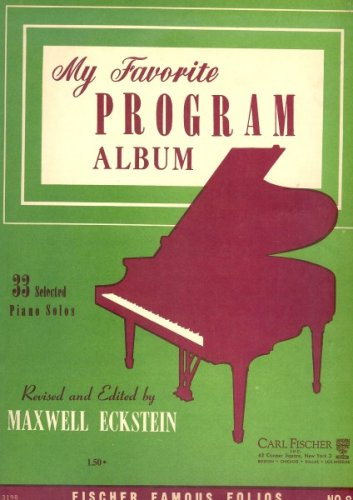 (My Favorite Program Album (33 Selected Piano Solos))