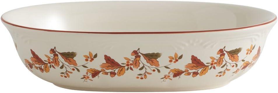 Pfaltzgraff Autumn Berry Oval Vegetable Bowl, white, 11.5 inches