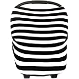 Stretchy Universal Fit Multi-use Baby Car Seat Canopy Cover- Nursing Cover,Grocery Shopping Cart Cover,Infant Car Seat Canopy & Restaurant High Chair Cover.4 in 1 Universal Unisex