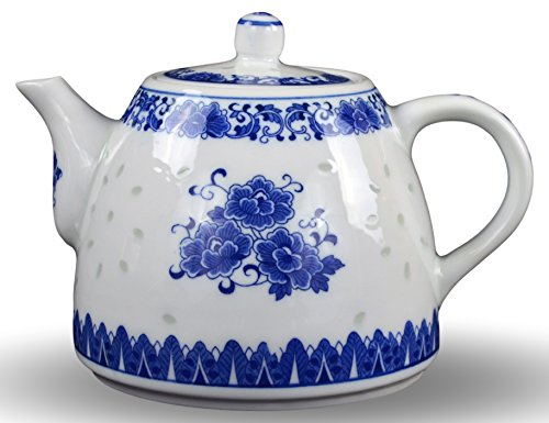 Large Teapot Blue and White Porcelain 6 Cup Store 56 Ounce China, Coffee Pot - China Coffee Pot
