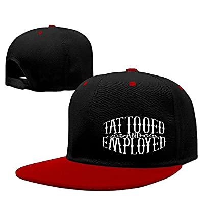 Tattooed And Employed Hip Hop Baseball Caps Comfortable Flat Bill Plain Snapback Hats Red by justpop