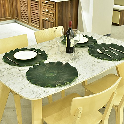 Insulated Table Mat,HWKAIZ Creative Lotus Leaf Table Insulation Felt Mat Placemats Non-slip Washable Dining Pads,Set of 1