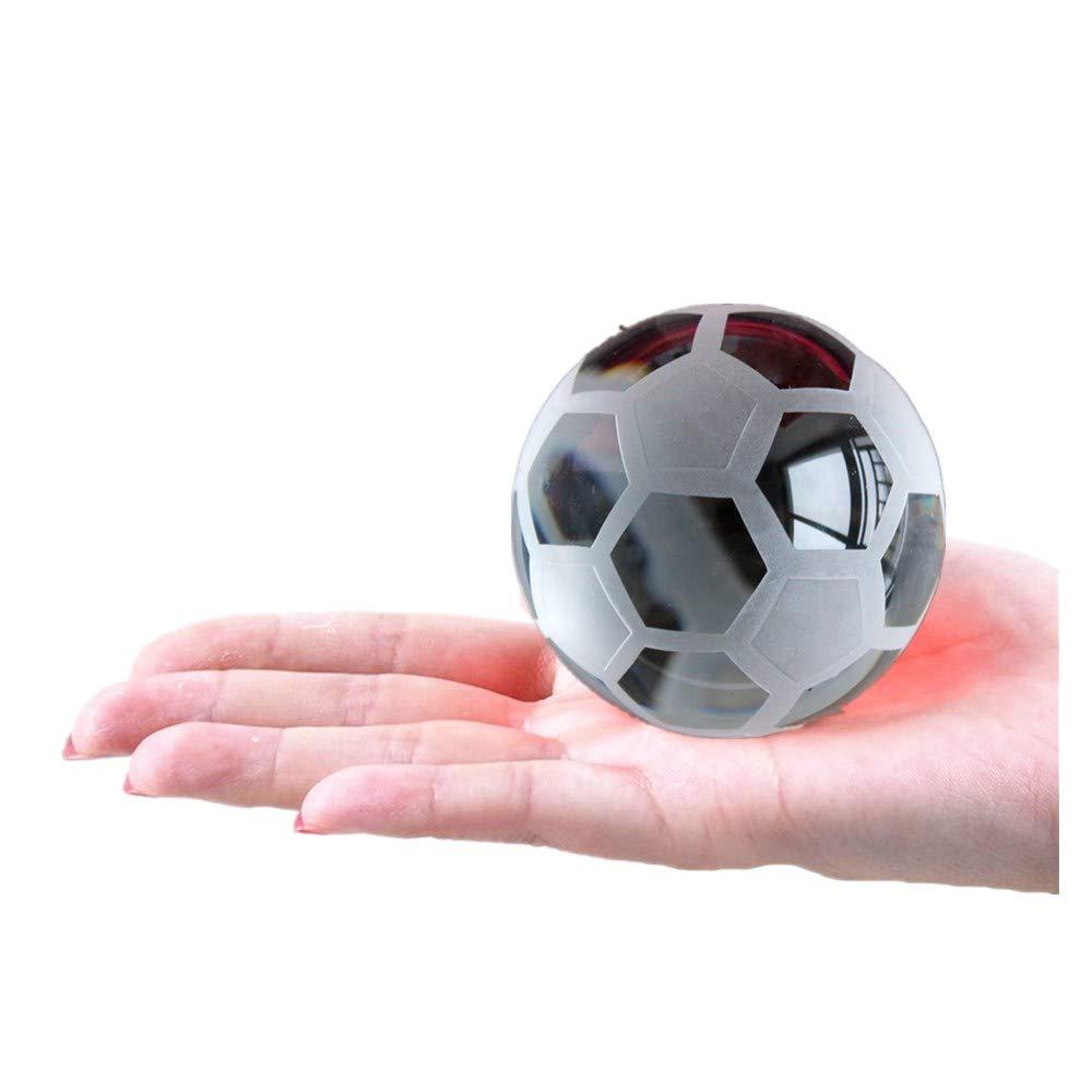 Crystal Glass Basketball Baseball Model Figurine Craft Handmade Sphere 6 CM Ball Sports Fan ornaments Gift For Home Decoration (Baseball) taiyuan
