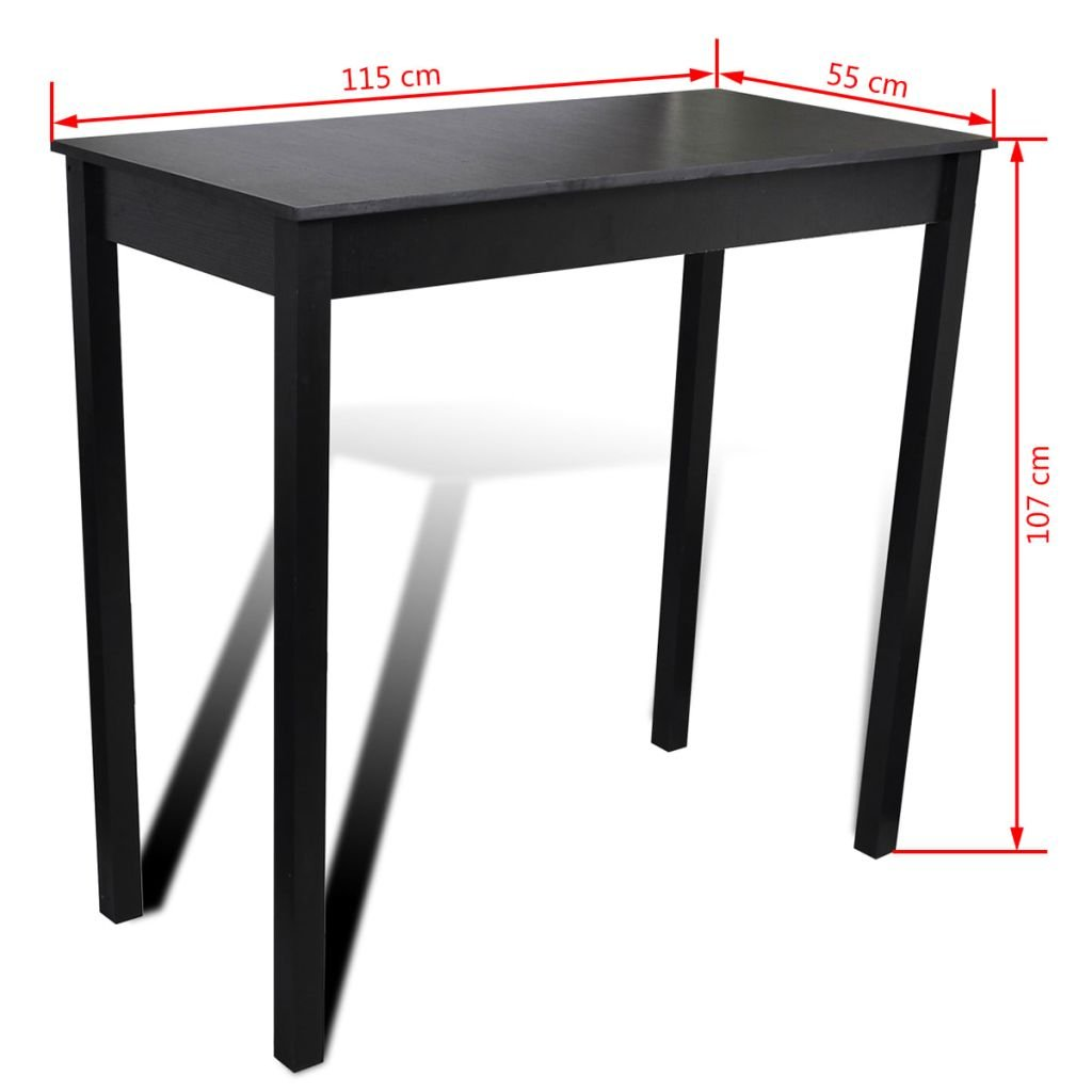 vidaXL Set de 1 table rectangulaire table de cuisine et 4 tabourets ...