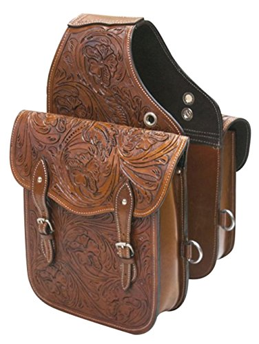 Monster Ducati Dog - WESTERN TRAIL HORSE OR MOTORCYCLE SADDLE BAG BAGS HAND TOOLED BROWN LEATHER