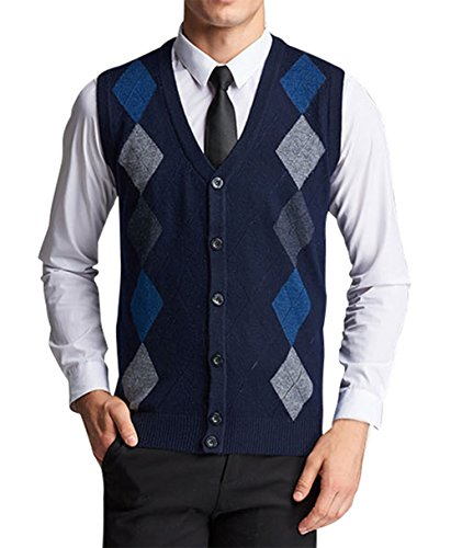 Navy Argyle Sweater - 7