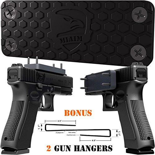 Gun Magnet and Gun Holder - Magnetic Gun Mount Gun Accessories - Concealed Magnetic Handgun Car Holster - Magnetic Gun Holder for Car - Gun Magnet Mount Gun Storage - Glock Accessories Gun Rack…