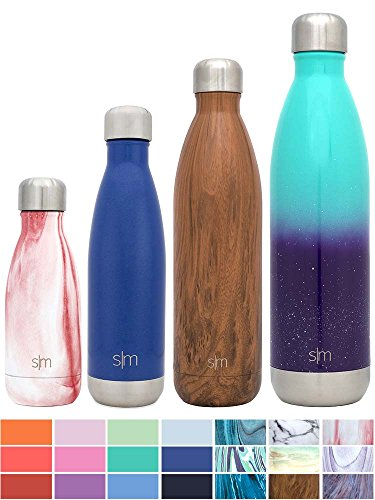 Simple Modern Stainless Steel Vacuum Insulated Double-Walled Wave Bottle, 17oz - Pacific Blue