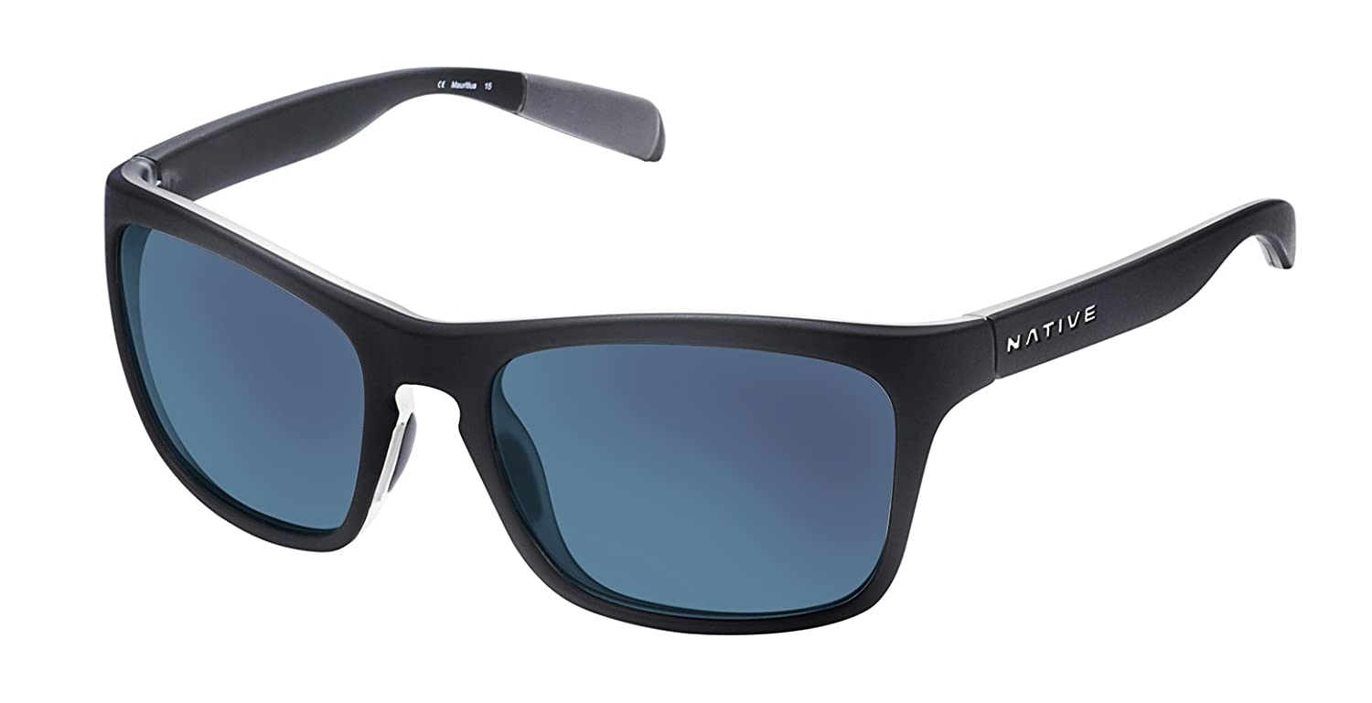 f8aa6f158b9 Amazon.com  Native Eyewear Unisex Penrose Matte Black Crystal Crystal Blue  Reflex  Sports   Outdoors