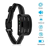 DOPA Bark Collar, Rechargeable Anti Dog Bark Collar 7 Adjustable Sensitivity Intensity Levels Harmless Bark Collars Small Medium Large Dog (Black)