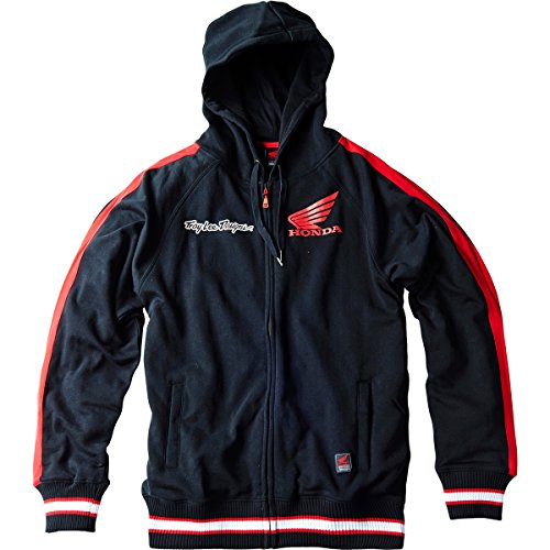 Sweatshirt Hoody Honda (Troy Lee Designs Mens Honda Wing Hoody Zip Sweatshirt Large Black)