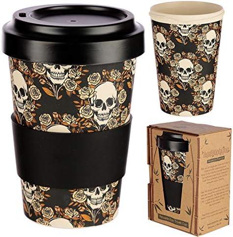 Taza para caf/é de Fibra de bamb/ú Taza de caf/é ecol/ógica Reutilizable 420 ml, Hecha con Fibra de bamb/ú Natural org/ánica