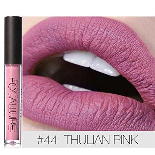Focallure Lipstick Matte Stay On Glossier Shimmer Lip Gloss Long Lasting Colorstay Liquid Waterproof Makeup Lipgloss Purple