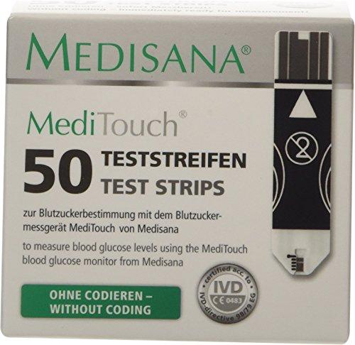 Medisana MediTouch Teststreifen für Blutzuckermessgerät, 2 x 25 Stück